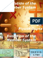 The Evolution of the Number System