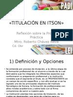02 - Titulación en Itson y Registro de La Información
