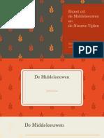 Kunst in de Middeleeuwen en Nieuwe Tijden.pptx