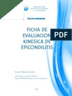 Ficha de Evaluacion Kinesica de epicondilitis