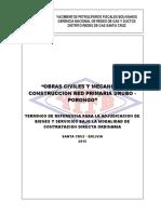 Especificaciones Tecnicas Red Primaria Porongo