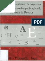 Manual de Preparação de Originais e Revisão de Textos Das Publicações Do Gabinete Da Revista