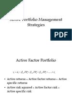 Active Portfolio Management Strategies