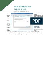 Como Instalar Windows 8 en VirtualBox Paso a Paso