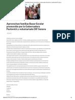 06-08-16 Aprovechan familias Bazar Escolar promovido por la Gobernadora Pavlovich y voluntariado DIF Sonora. -Critica