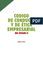 2016 - Codigo Conducta Bk Spain