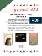 We Found A Hat by Jon Klassen Activity Kit