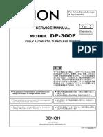 Denon Dp-300f Service en Jp