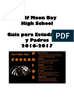 Student-Parent Handbook 2016-2017 Spanish