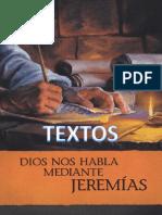 Libro Dios Nos Habla Mediante Jeremías. TEXTOS Para El Estudio Bíblico de Congregación