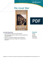 Lesson 2 Reading Guide the Great War