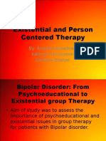 existential and person centered therapy