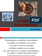 La Terapia Transpersonal - Aspectos Hleon