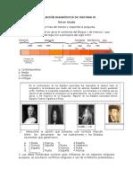 Evaluación Diagnóstica de Historia III