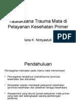 Tatalaksana Trauma Mata Di Pelayanan Kesehatan Primer