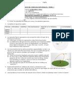 Evaluacion Ciencias Naturales Sistema Solar Tema 1 A
