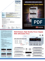 GW Instek GPS-4303 Manual