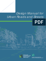 Design Manual for Urban Roads and Street