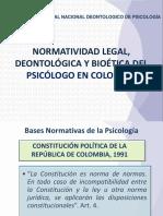 Normatividad Legal Deontologica Bioetica 2013