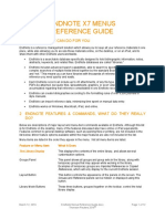 EndNote Menus Reference Guide