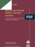 Manual de filosofía social y ciencias sociales; González Uribe, Héctor; 2001