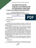 Arias Regalía, Bonan (2014) - Los Obstáculos de Aprendizaje de Las Ciencias de La Tierra Pensados Como Ejes Para La Formación Docente