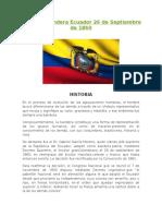 Día de La Bandera Ecuador 26 de Septiembre de 1860