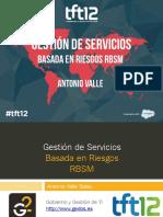 Gestión de Servicios Basada en Riesgos RBSM