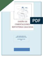 Diseño de Cimentaciones Reposteria Casa Rosa Para Imprimir