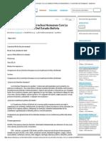 Comparacion de Los Erechos Humanos Con La Constitucion Politica Del Estado Bolivia - Documentos de Investigación - Tianjhamel