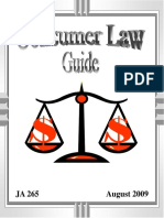 JAG Consumer Law Guide - August 2009 (JA 265)