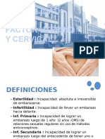 Infertilidad Factor Uterino y Cervical