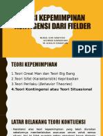 Teori Kepemimpinan Kontigensi Dari Fielder