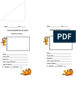Cartão de identificação do animal