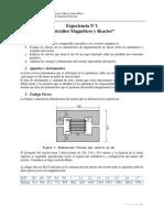 Experiencia 1 Circuito Magnetico y Reactor