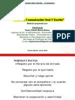 Competencia en Comunicacion Oral y Escrita