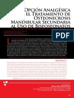 Nueva Opción Analgesica en El Tratamiento de Osteonecrosis