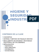HIGIENE Y SEGURIDAD INDUSTRIAL + PLAN DE EMERGENCIAS