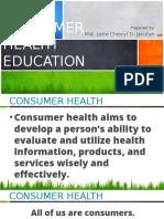 Lesson 2 Consumer Health Education