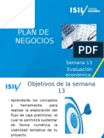 Semana 13 01 Evaluacion Economica Preliminar