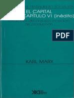 Marx Capítulo VI Inédito