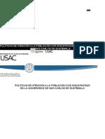 Políticas de atención a la población con discapacidad en la Universidad de San Carlos de Guatemala
