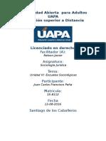 Tarea 6 Unidad VI Sociologia Juridica (UAPA)