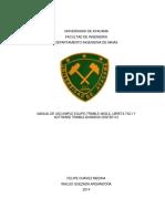 TESIS Manual de Uso Simple Equipo Trimble 4600LS, Libreta TSC1 y Software Trimble Business Center 3.0