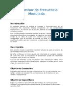 Transmisor de Frecuencia Modulada Informe