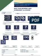 Custom Order Mooring Lines Work Sheet