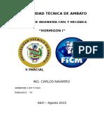 Mòdulo Hormigòn i II Parcial (1)