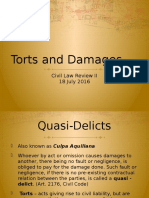 Civil Law- Torts & Damages (Reviewer)