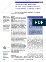 High-Intensity Statin Therapy in CKD