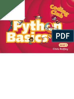 Coding Club Level 1 Python Basics | Parameter (Computer